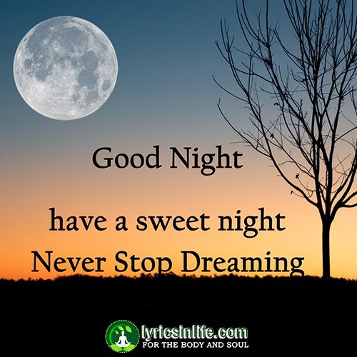 Good Night image with motivational Message 55